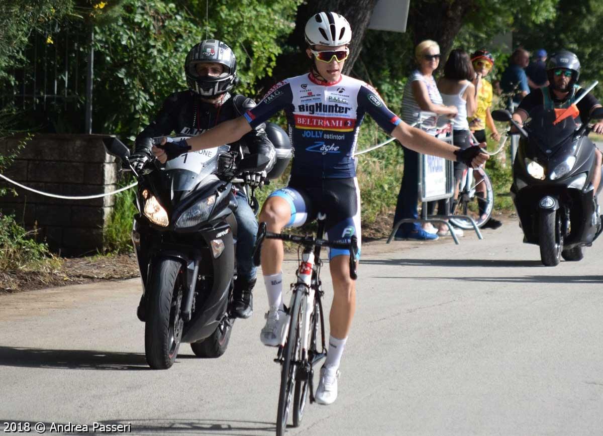 La vittoria di Elia Bianchi nella gara Allievi di Mocaiana