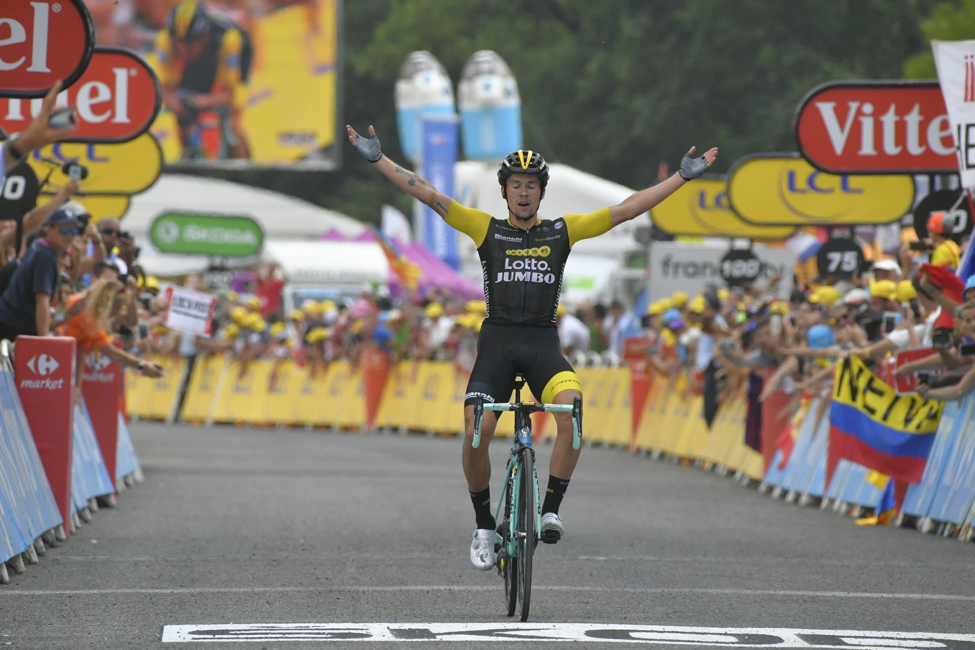Primoz Roglic vince la 19esima tappa del Tour de France 2018