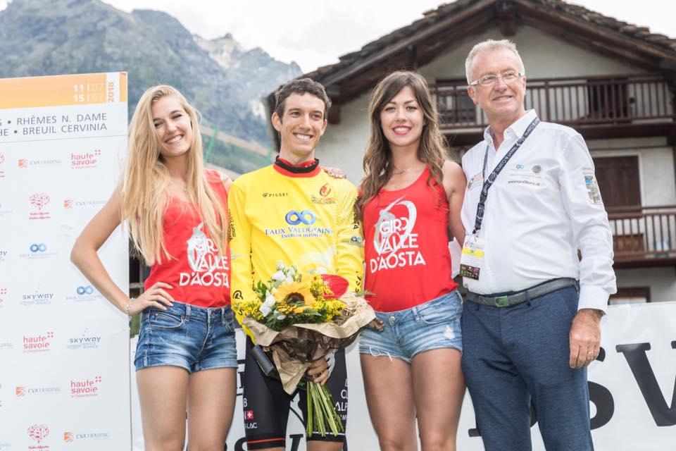 Matteo Bellia leader del Giro della Valle d'Aosta 2018