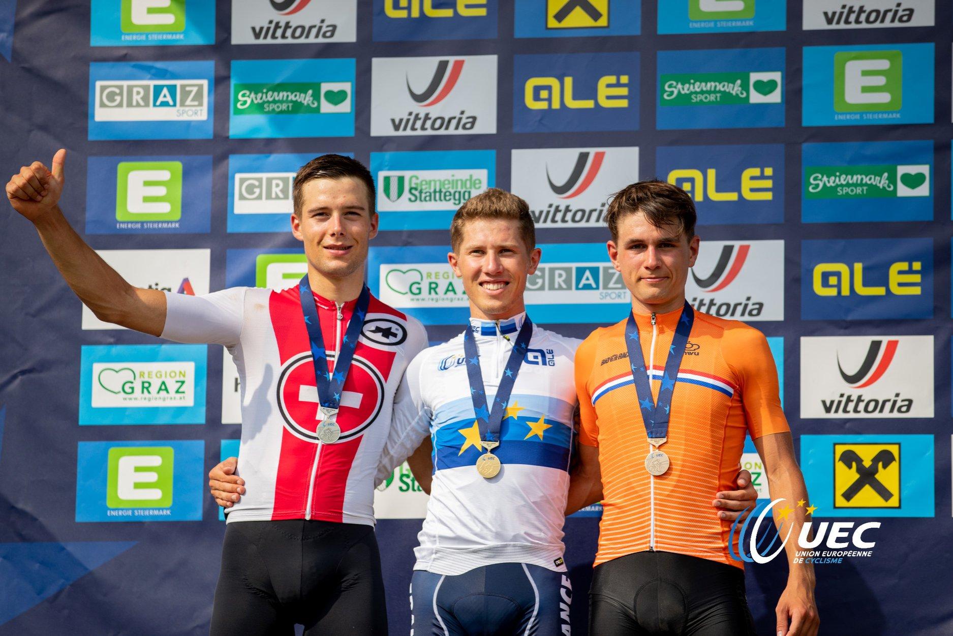 Il podio del Campionato Europeo XCO Under 23