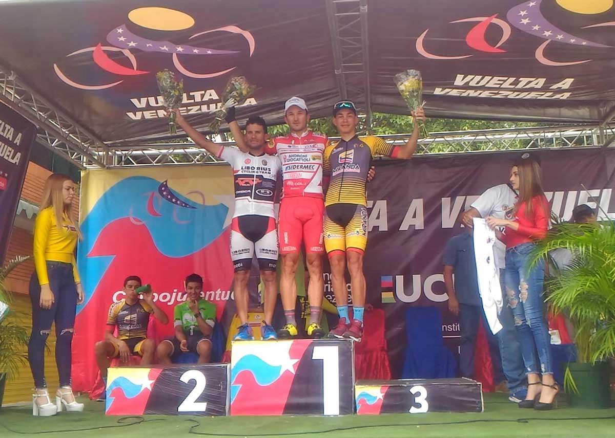II podio della quarta tappa della Vuelta a Venezuela 2018