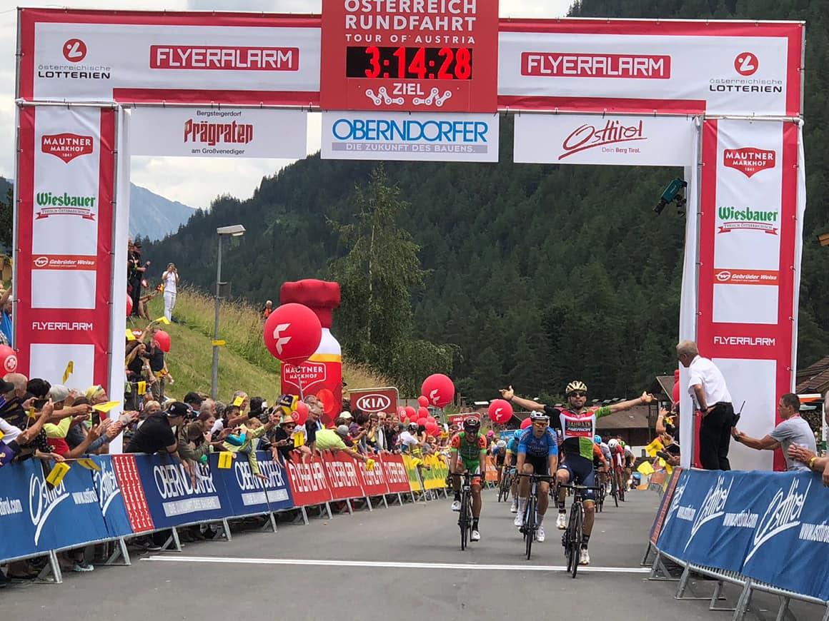 La vittoria di Giovanni Visconti nella quarta tappa del Giro d'Austria 2018