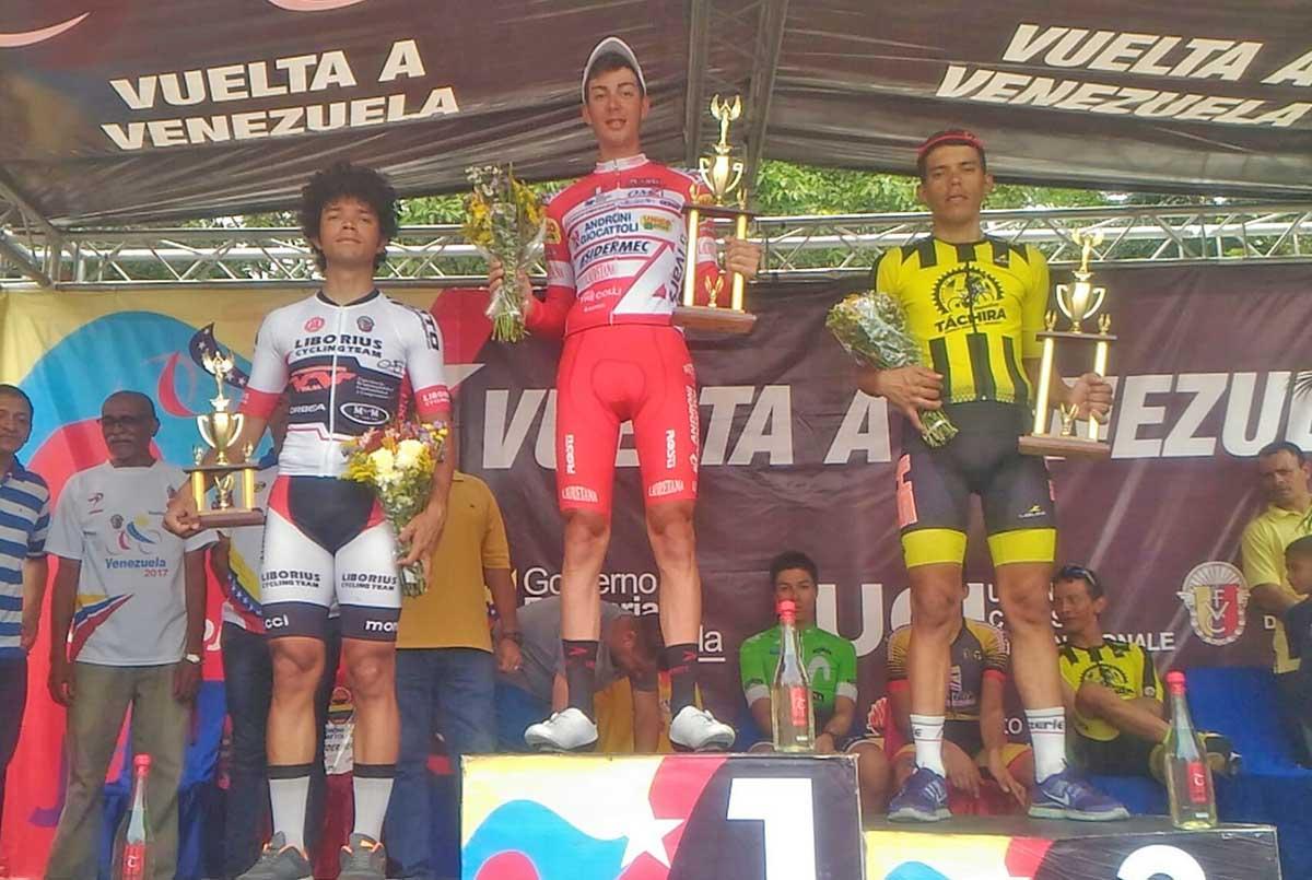 Matteo Spreafico festeggia in Venezuela la prima vittoria da professionista