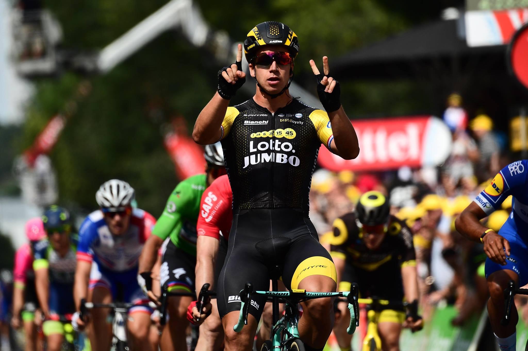 Dylan Groenewegen vince l'ottava tappa del Tour de France 2018