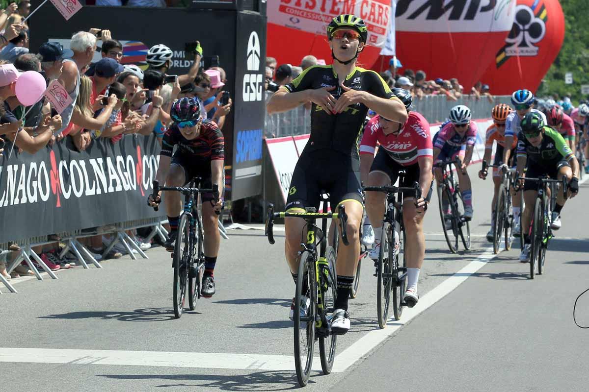 La vittoria di Jolien D'Hoore nella terza tappa del Giro Rosa 2018