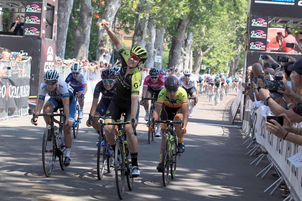 La vittoria di Jolien D'Hoore nella quarta tappa del Giro Rosa 2018