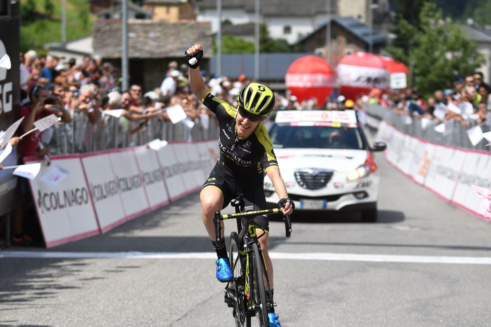 Amanda Spratt vince la sesta tappa del Giro Rosa 2018 a Gerola Alta