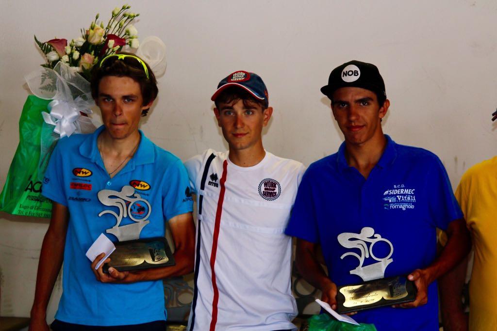 Il podio della Cronoscalata Lugo di Grezzana - Cerro Veronese per Juniores