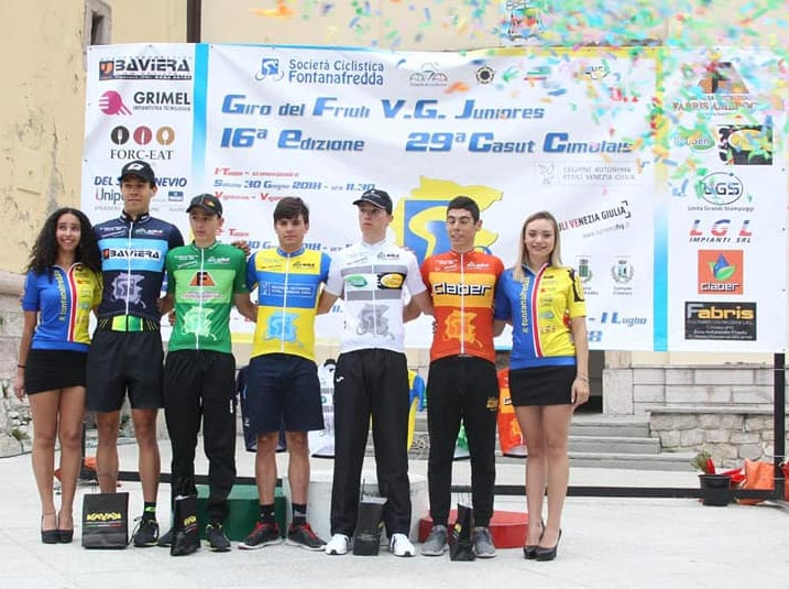 Tutte le maglie del Giro del Friuli Juniores 2018