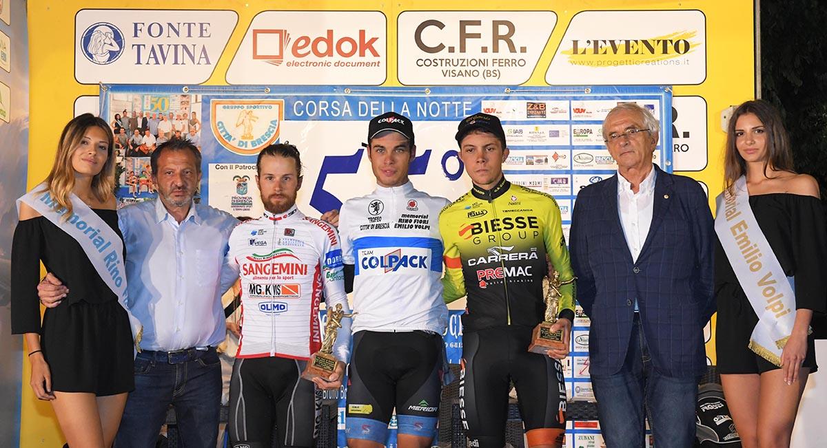 Il podio del 55° Trofeo Città di Brescia
