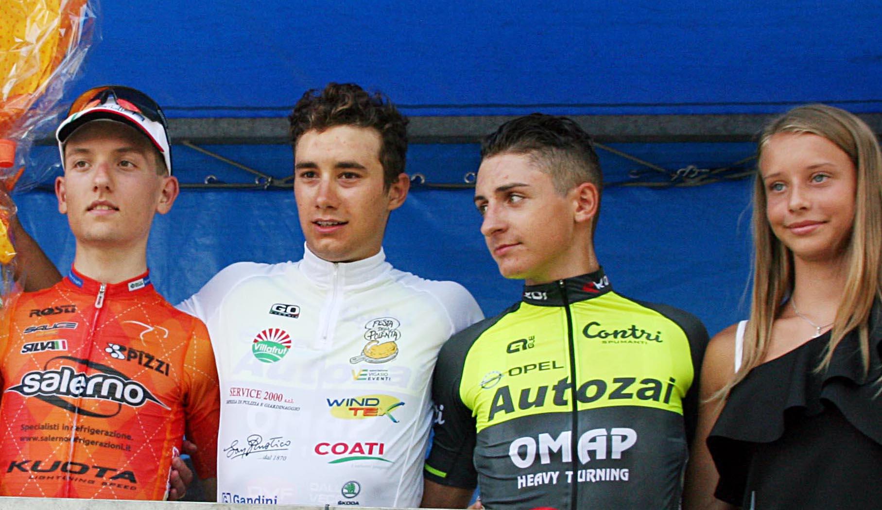Il podio della gara Juniores di Valgatara