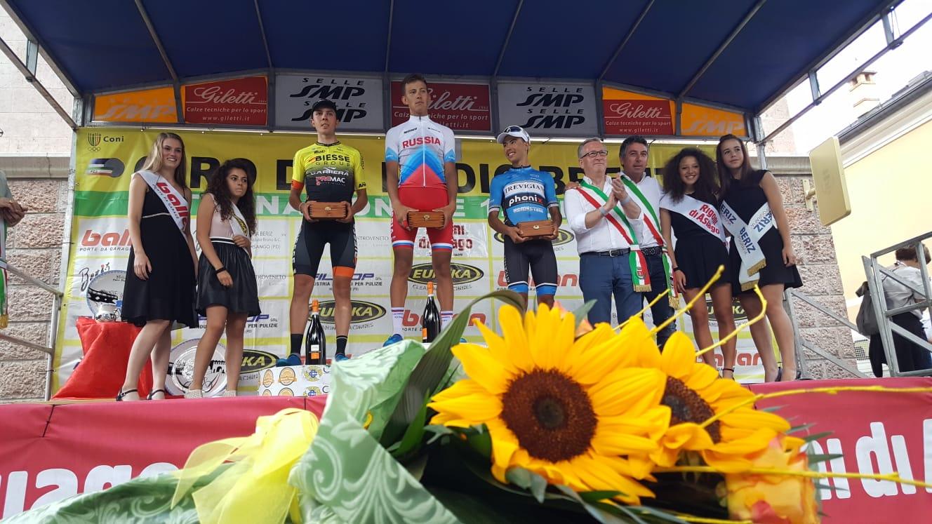Il podio del Giro del Medio Brenta 2018