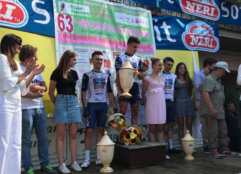Il podio del Giro del Montalbano vinto da Ottavio Dotti