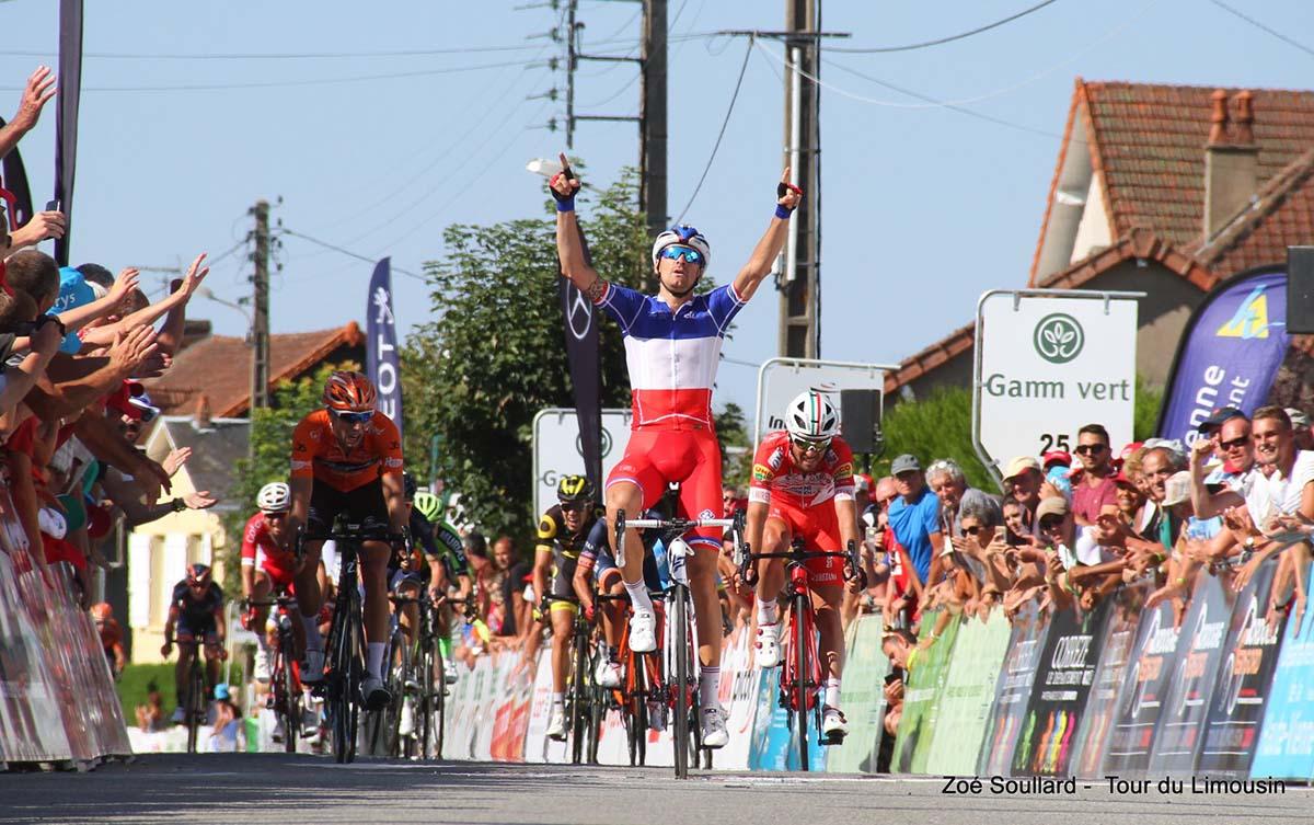 Anthony Roux vince la prima tappa del Tour du Limousin