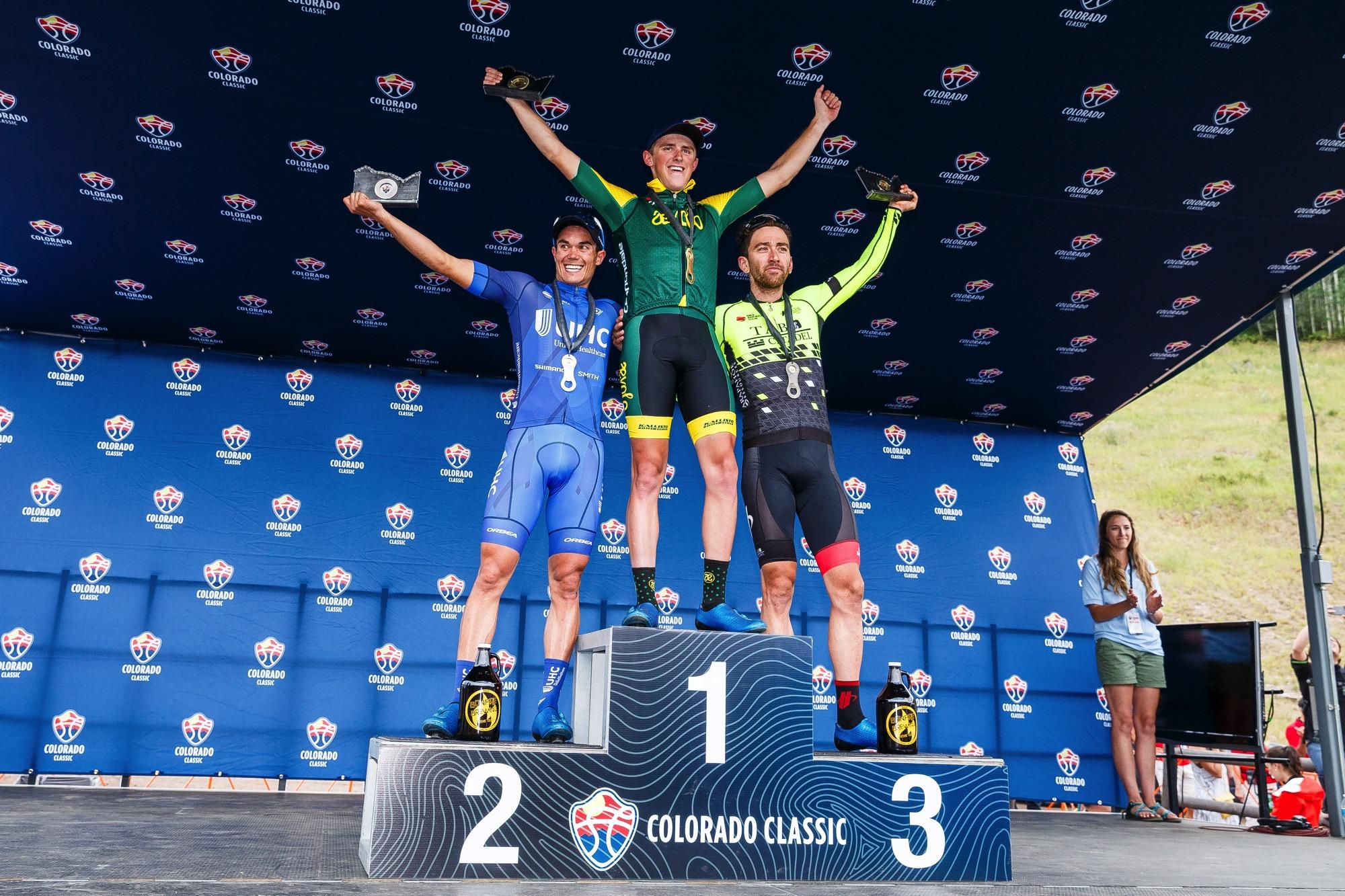 Il podio della prima tappa del Colorado Classics
