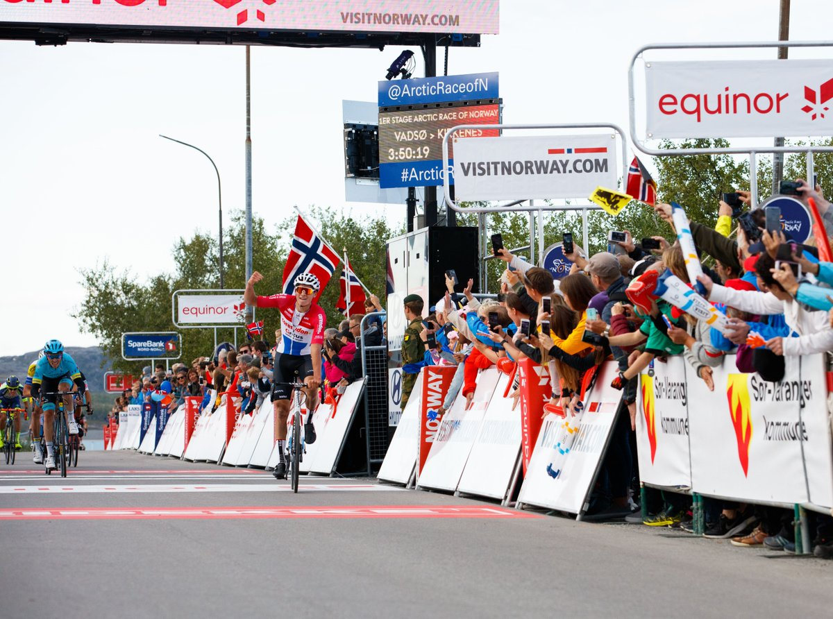 Mathieu Van der Poelvince la prima tappa dell'Arctic Race of Norway