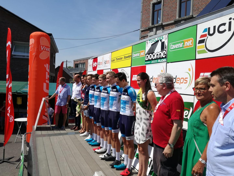 I francesi della Btwin AG2R La Mondiale U19 vincono la cronosquadre della Aubel – Thimister – Stavelot