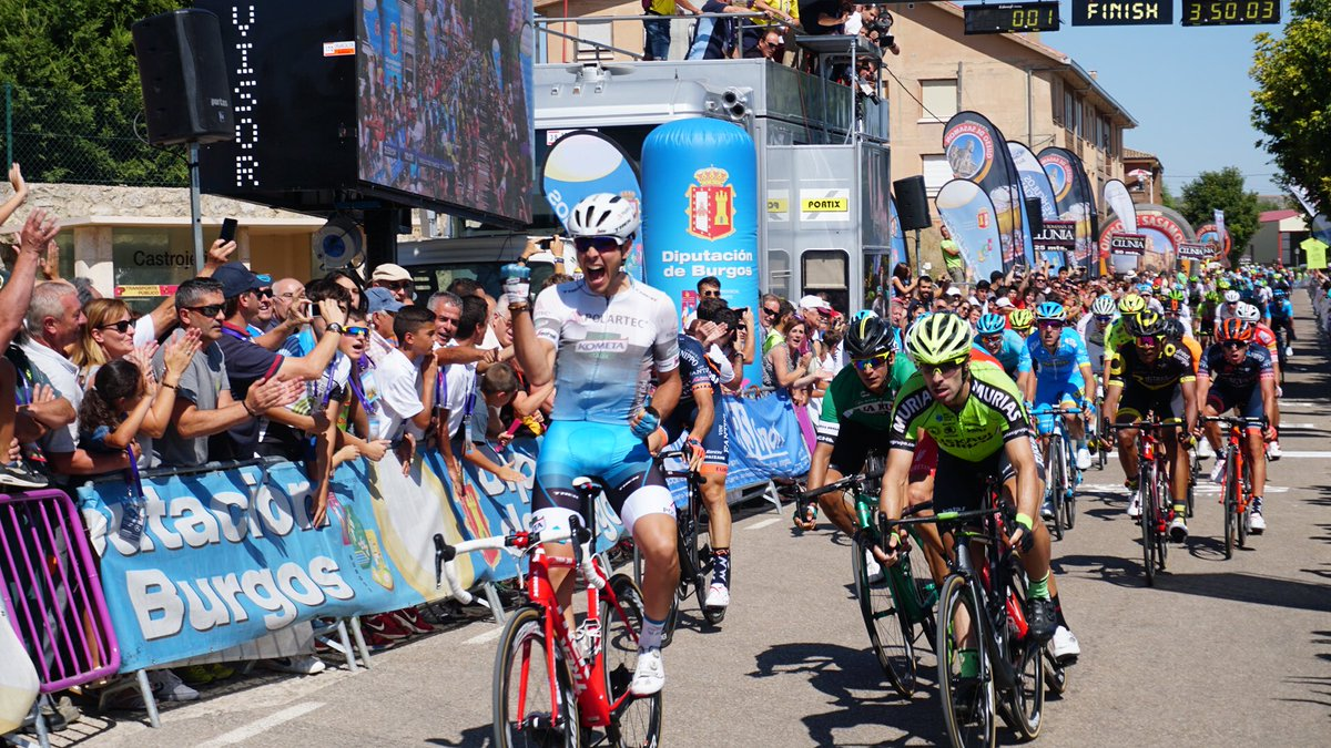 Matteo Moschetti vince la seconda tappa della Vuelta a Burgos