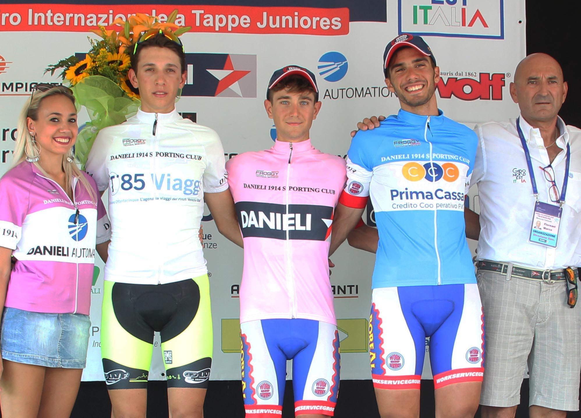 Le maglie del Giro del Nordest 2018 dopo la seconda tappa