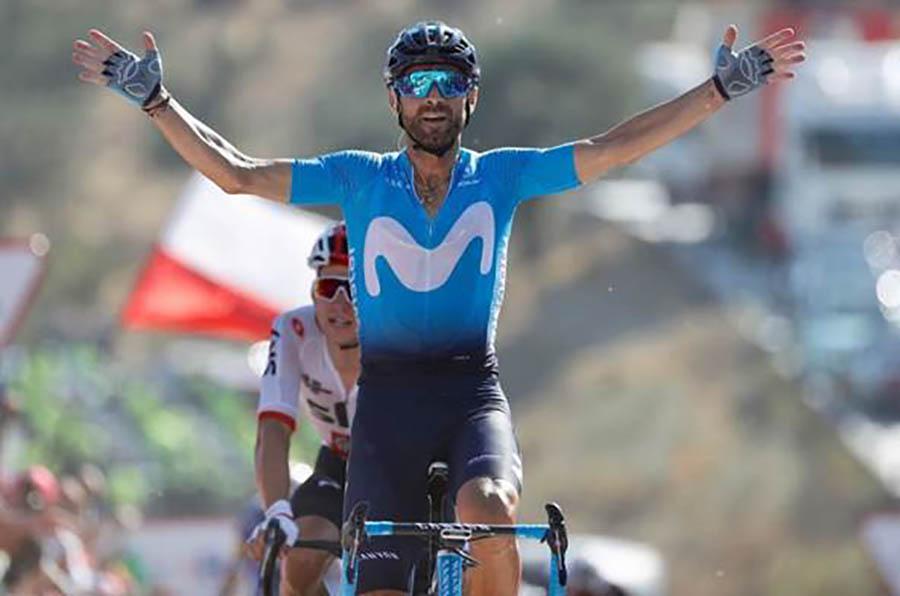 Alejandro Valverde vince la seconda tappa della Vuelta a Espana 2018