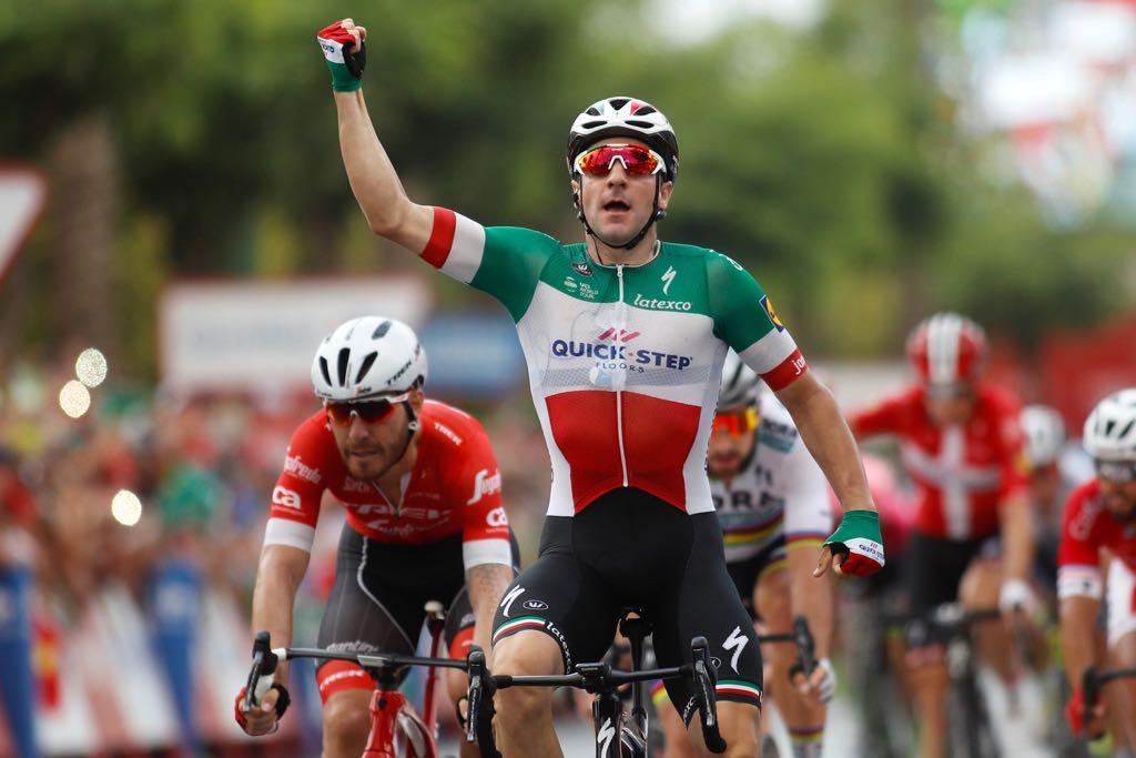 Elia Viviani vince la terza tappa della Vuelta a Espana 2018