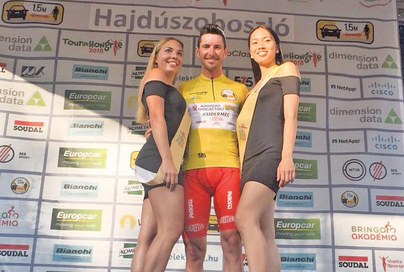 Manuel Belletti leader del Giro d'Ungheria dopo la terza tappa