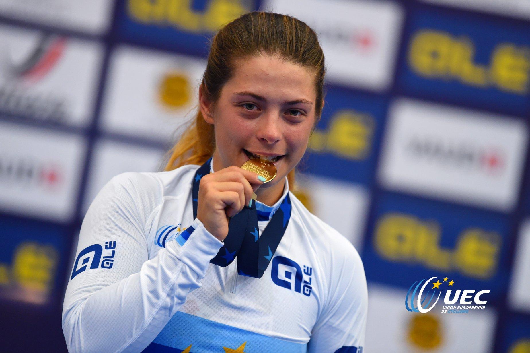 Miriam Vece campionessa europea Velocità Donne Under 23