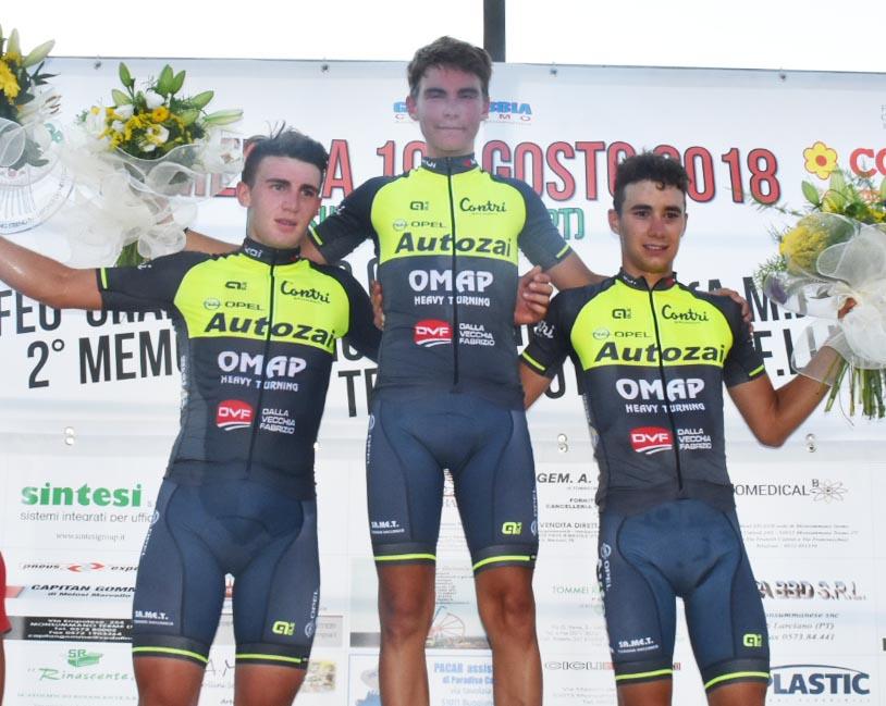 Il podio di Monsummano Terme tutto griffato Autozai Contri Omap