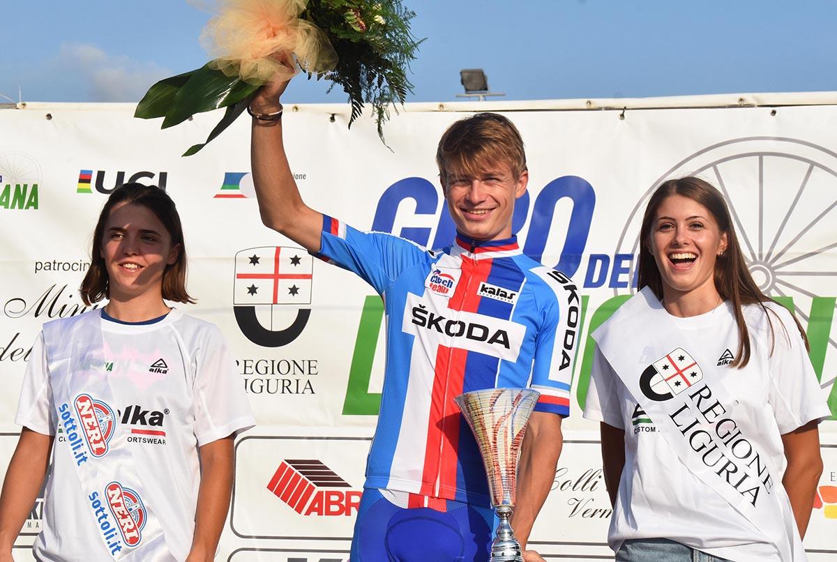 Katel Vacek vincitore della seconda semitappa della prima tappa del Giro della Lunigiana