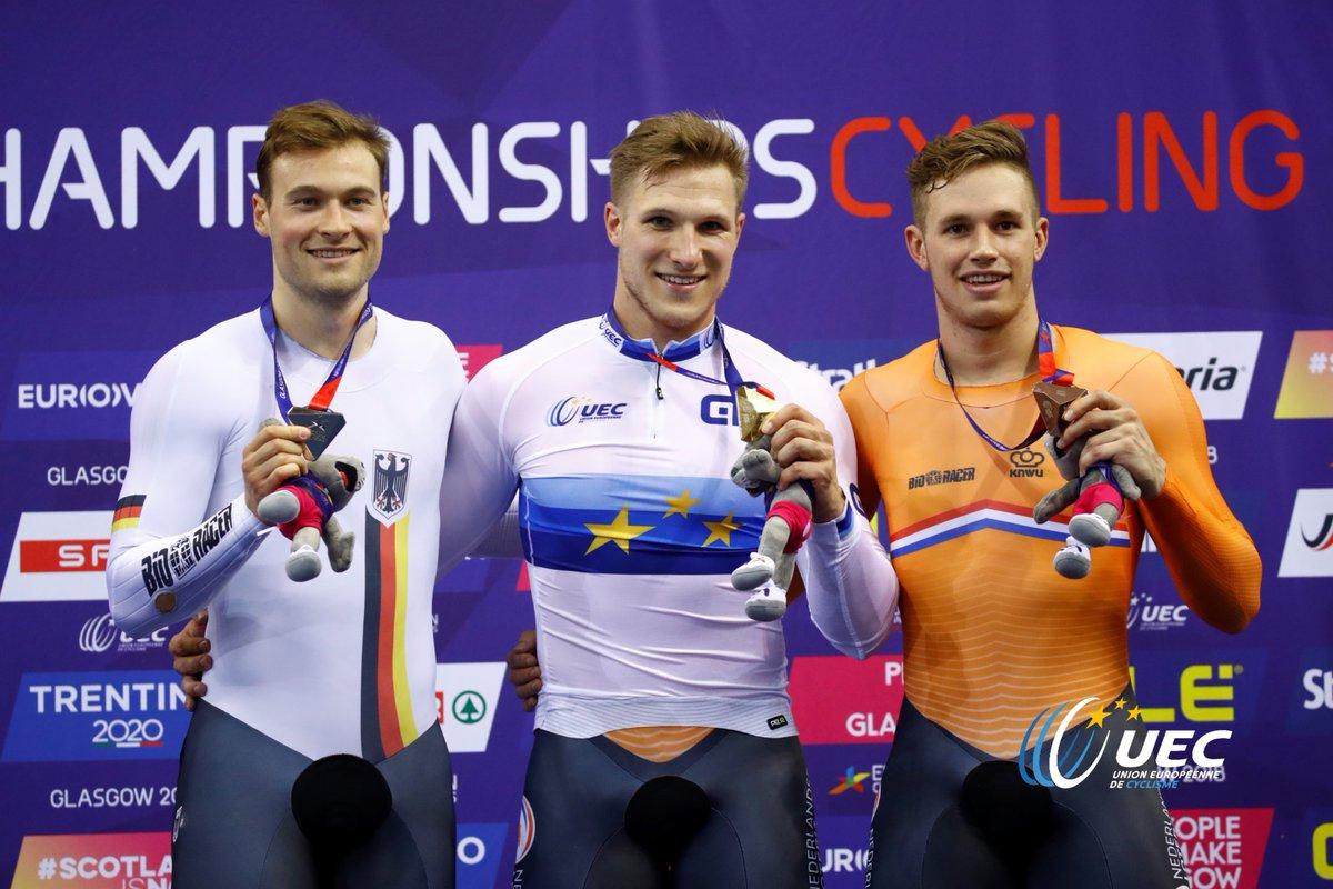 Il podio del Campionato Europeo Velocità maschile
