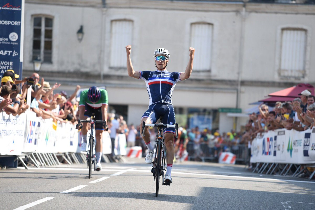 Il francese Damien Touze batte Edoardo Affini nella terza tappa del Tour de L'Avenir