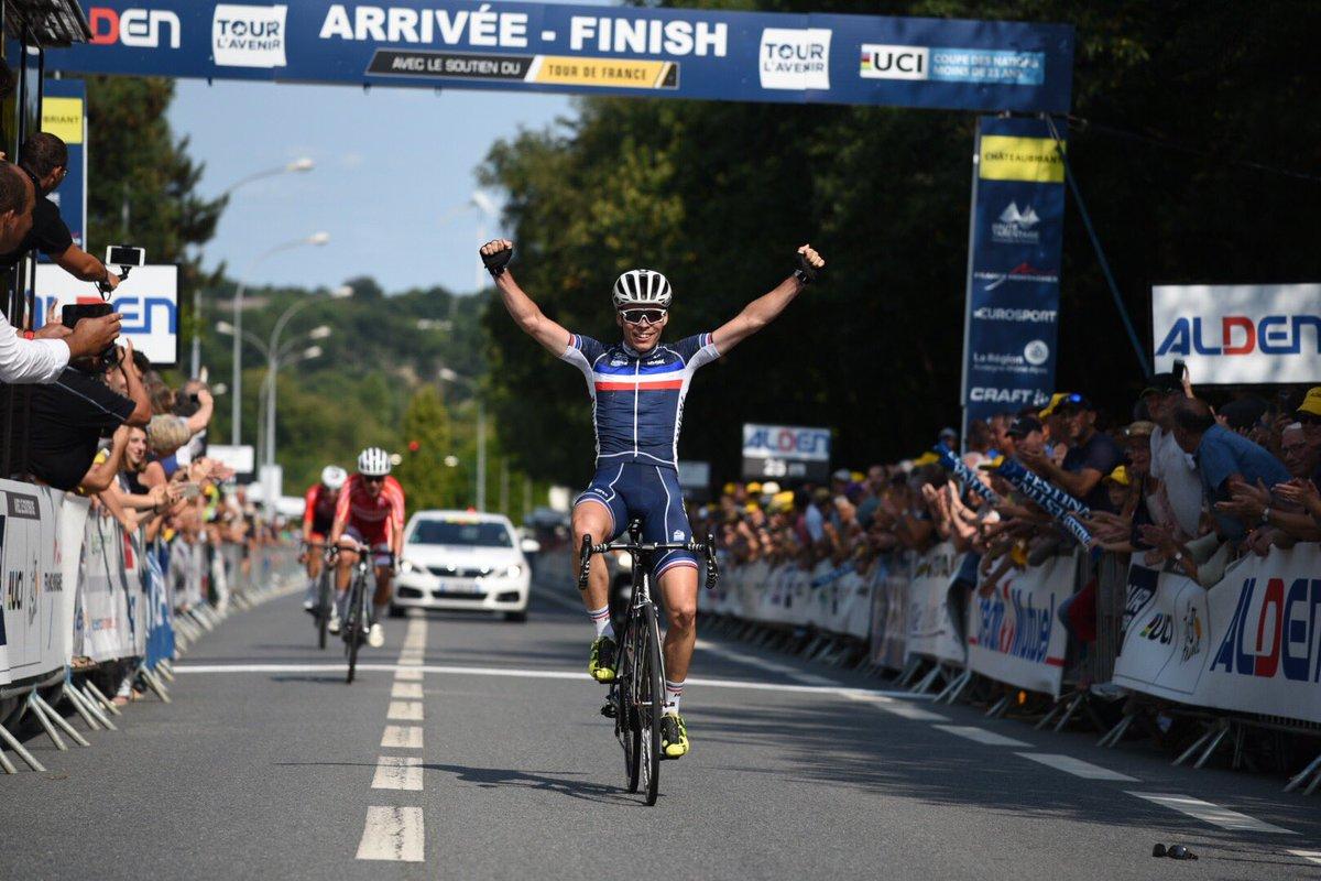 Il francese Alan Riou vince la seconda tappa del Tour de l'Avenir 2018