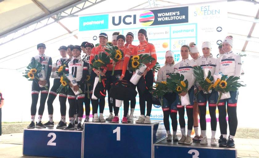 Il podio della Crescent Vargarda TTT 2018