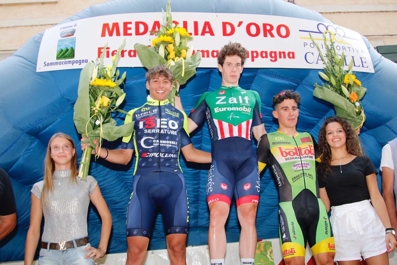 Il podio della Medaglia d'Oro Fiera di Sommacampagna 2018