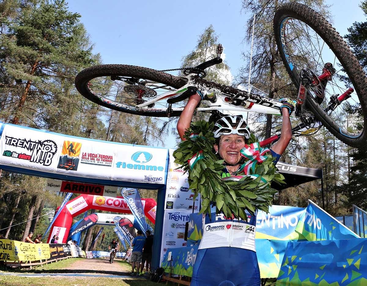Maria Cristina Nisi vince la Vecia Ferovia della Val di Fiemme