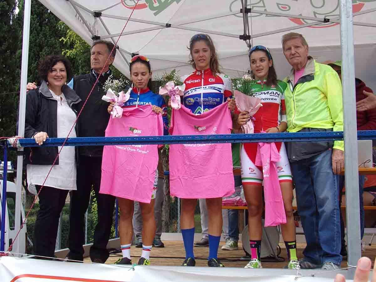 Il podio Donne Allieve di Noventa di Piave (foto F- Coppola)