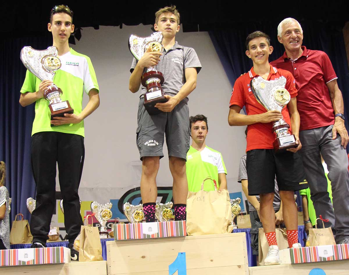 Il podio Esordienti 1° anno del Giro d'Oro 2018