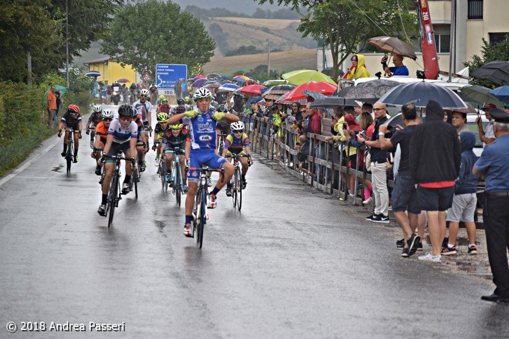 Samuele Scappini vince la gara Esordienti 1° anno di Colfiorito