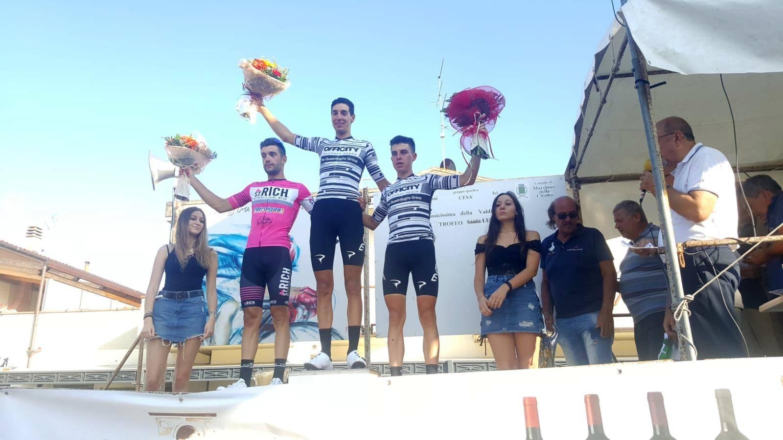 Il podio del 96° Circuito di Cesa