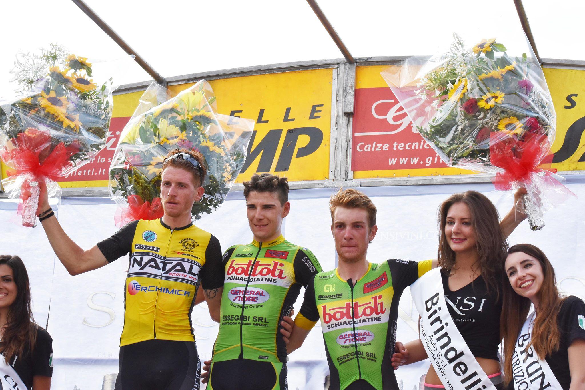 Il podio del Trofeo Comune di Lamporecchio 2018