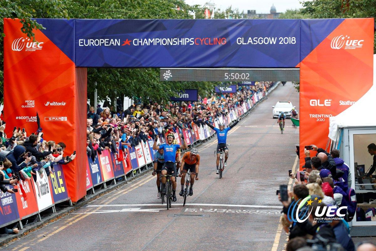 La vittoria di Matteo Trentin agli Europei di Glasgow