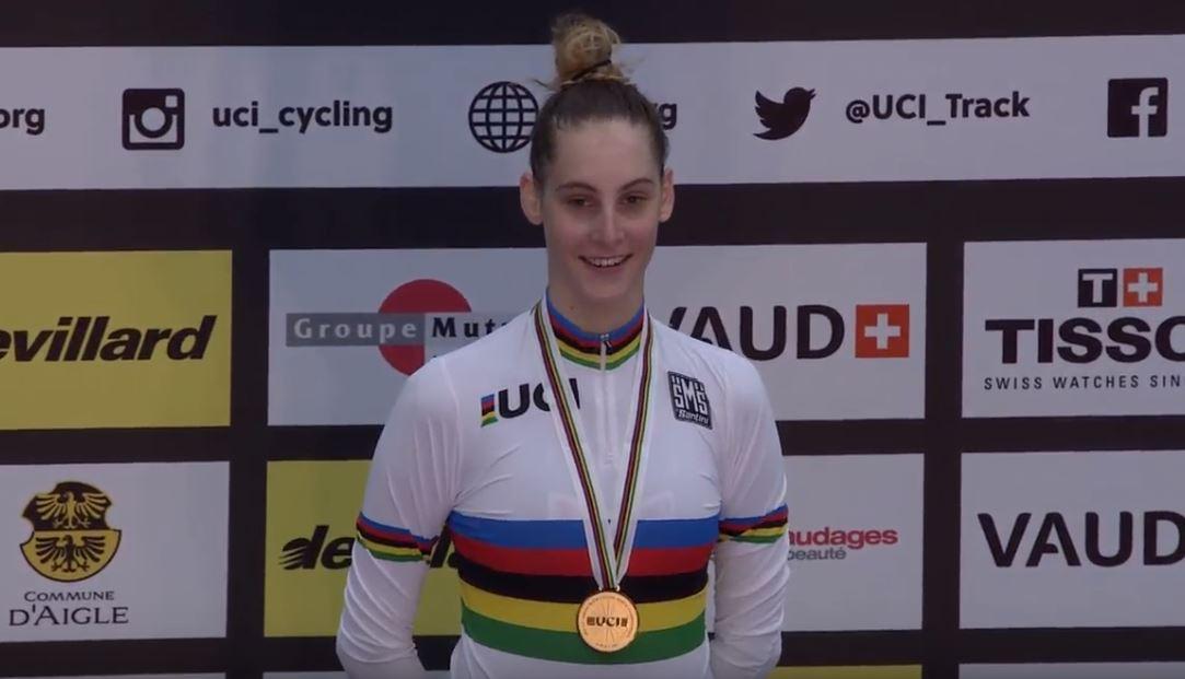 Vittoria Guazzini campionessa del mondo anche dell'Inseguimento Donne Junior