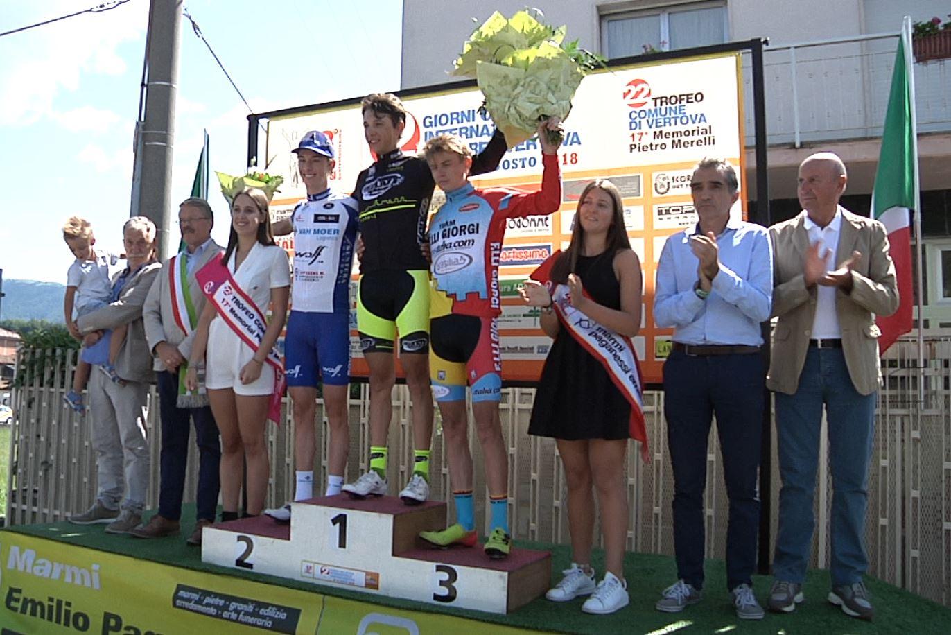 Il podio del Trofeo Paganessi 2018