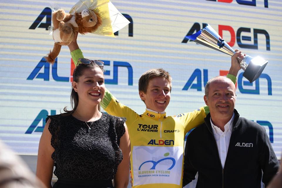 Lo sloveno Tadej Pogacar vincitore del Tour de l'Avenir 2018