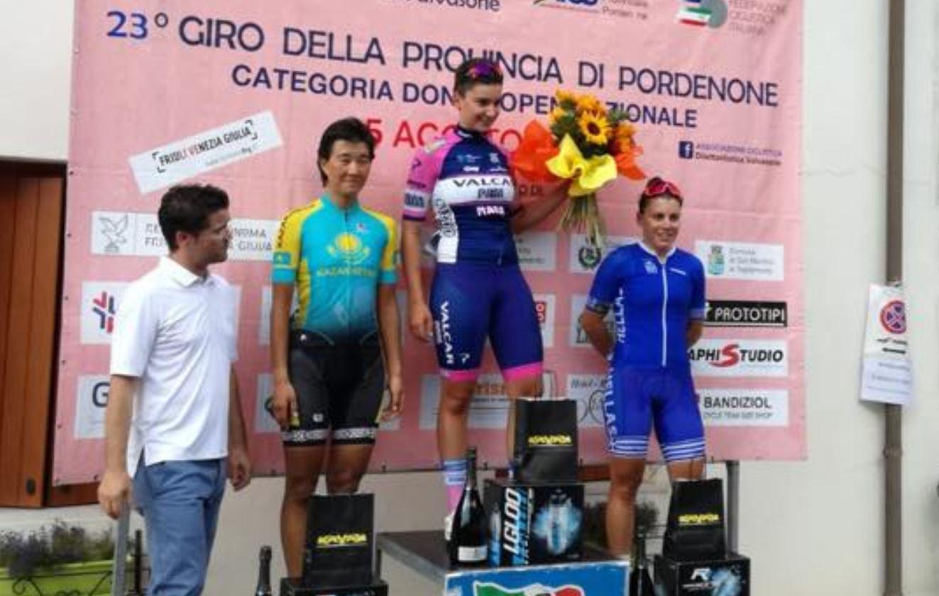Il podio del Giro della Provincia di Pordenone Donne