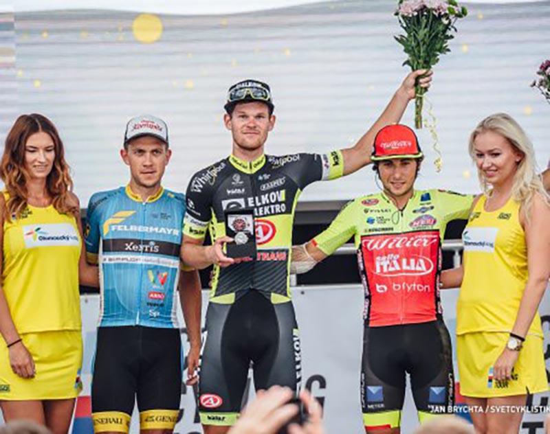 Il podio della terza tappa del Czech Tour