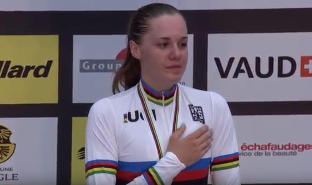 Silvia Zanardi campionessa del mondo della Corsa a punti Donne Junior ad Aigle