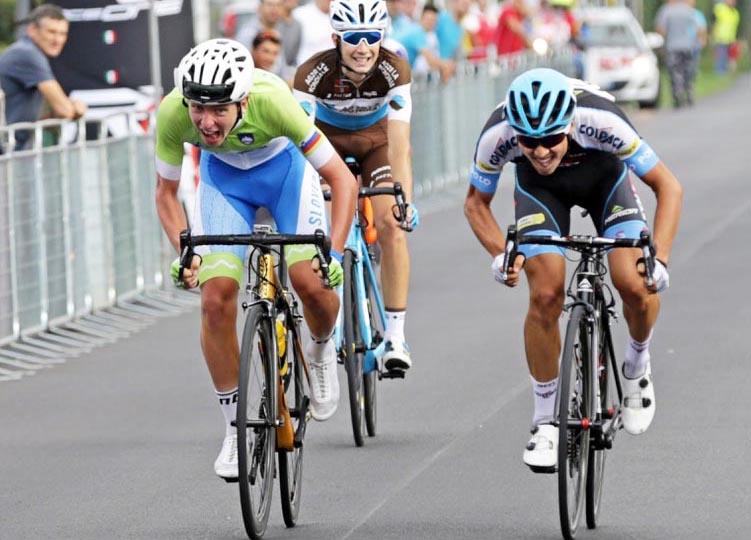 Tadej Pogacar anticipa Andrea Bagioli al Trofeo Bianchin