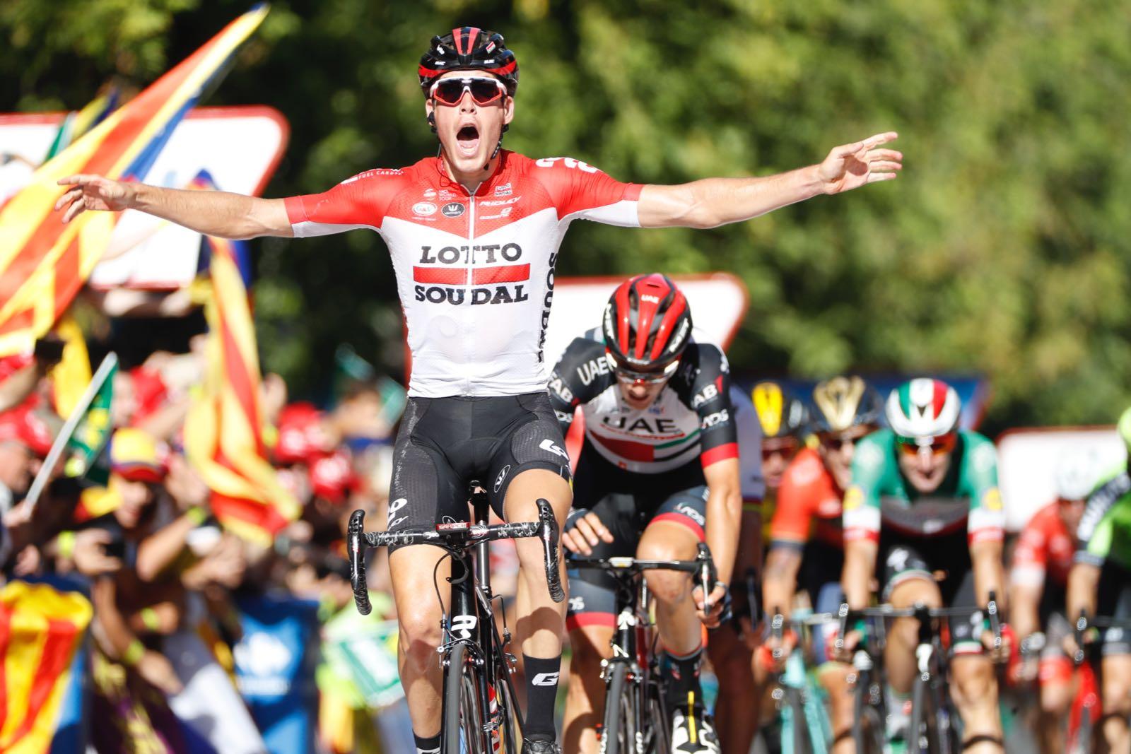 Jelle Wallays vince la 18esima tappa della Vuelta a Espana