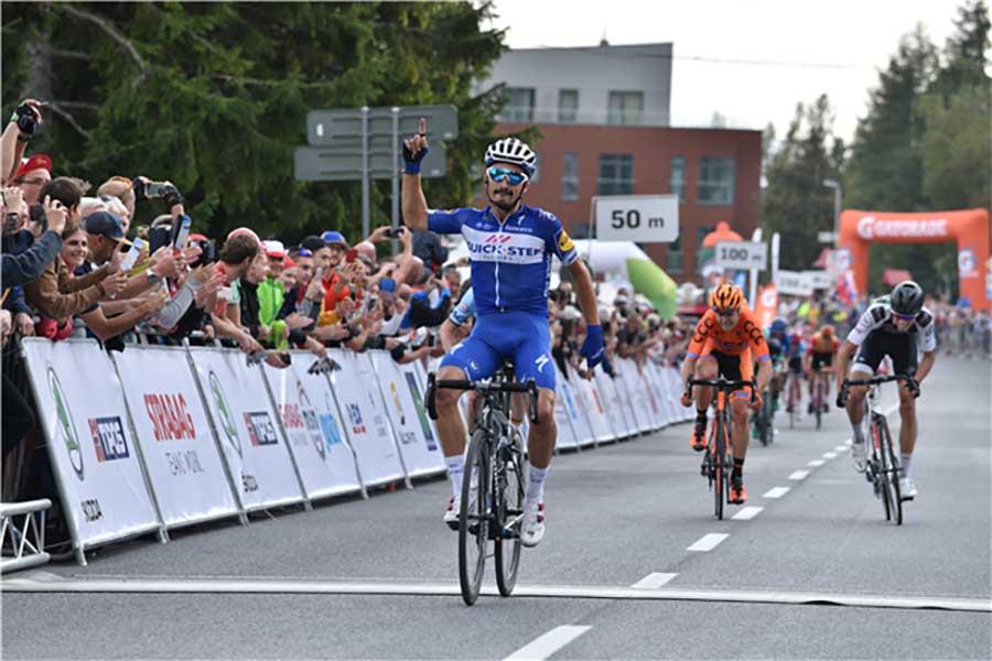 Julian-Alaphilippe vince la prima tappa del Tour de Slovaquie